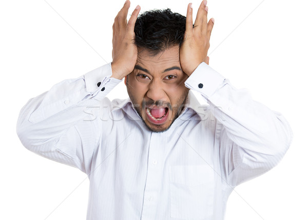 человека голову боль портрет Сток-фото © ichiosea