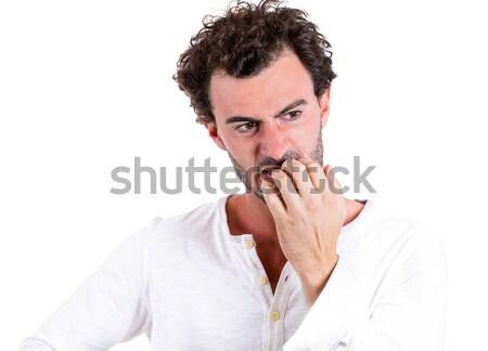 Stockfoto: Angst · portret · verlegen · verward · jonge