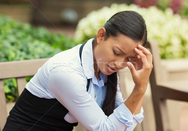Depressed stressed woman Stock photo © ichiosea