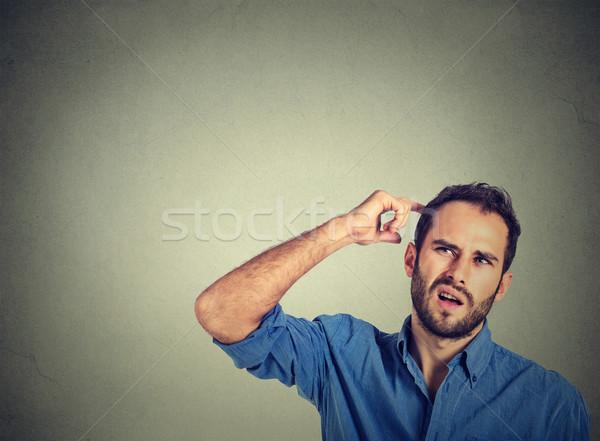Сток-фото: человека · голову · мышления · что-то