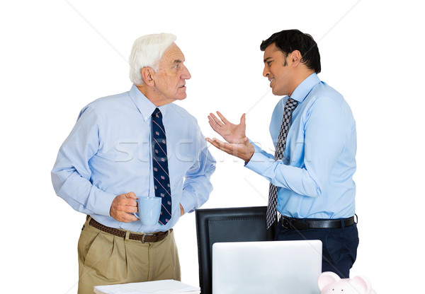 boss and employee having an arguement Stock photo © ichiosea