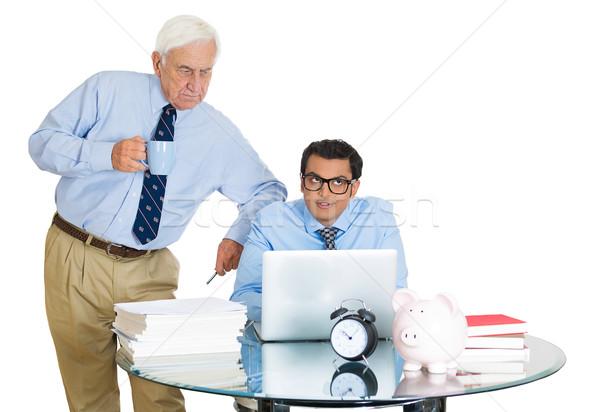 Patrão empregado retrato velho idoso Foto stock © ichiosea