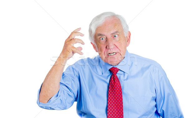 old man trying to recollect something Stock photo © ichiosea