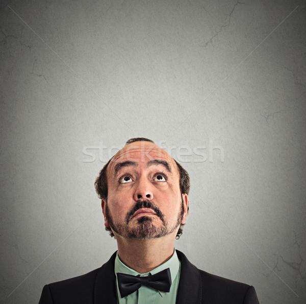 Retrato isolado cinza Foto stock © ichiosea