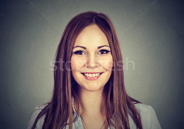 Happy woman. Headshot of smiling toothy girl  Stock photo © ichiosea