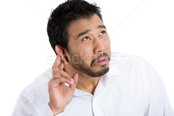 man having hearing difficulty Stock photo © ichiosea