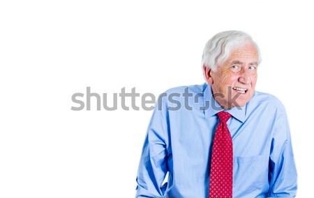 Alte flehend Porträt ältere Senior Stock foto © ichiosea