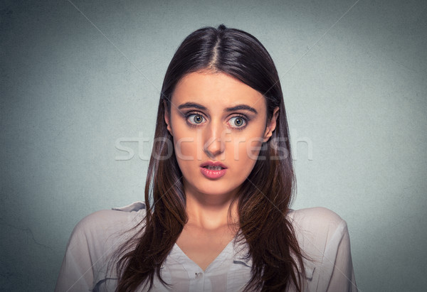 Concerned scared woman Stock photo © ichiosea