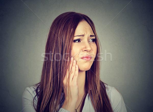 Donna delicato mal di denti piangere dolore Foto d'archivio © ichiosea