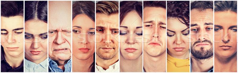 Group of sad people men and women Stock photo © ichiosea
