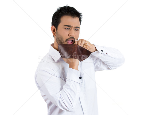 man upset about his empty wallet Stock photo © ichiosea