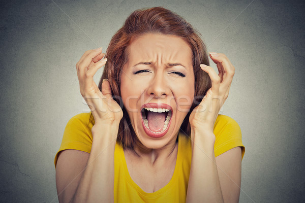 angry woman screaming hysterical  Stock photo © ichiosea