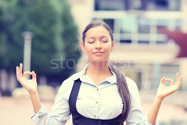 woman meditating outdoors  Stock photo © ichiosea