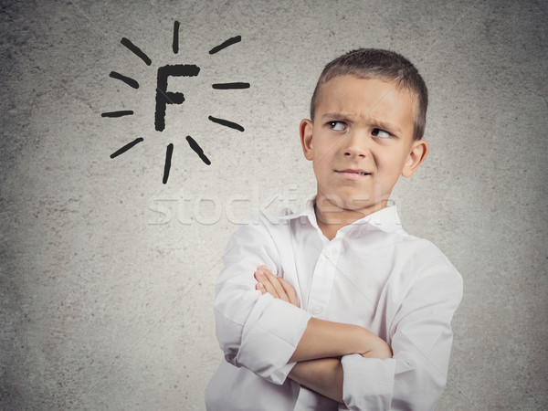 Student unhappy with his school grades Stock photo © ichiosea