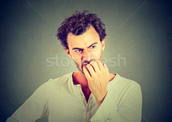 Angstig jonge man business werk achtergrond jongen Stockfoto © ichiosea