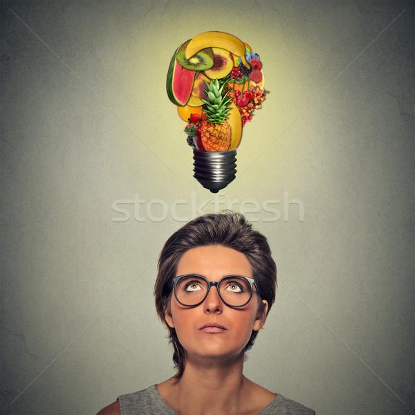 Mangiare sano idea dieta suggerimenti donna Foto d'archivio © ichiosea