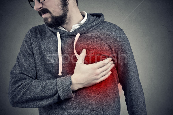 Man having a heart attack Stock photo © ichiosea