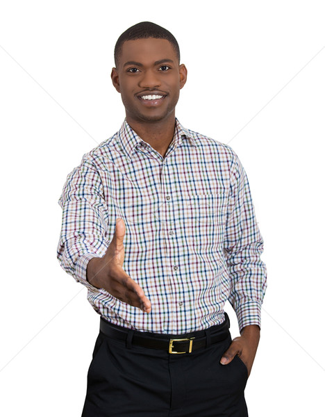 man extending arm for a handshake Stock photo © ichiosea