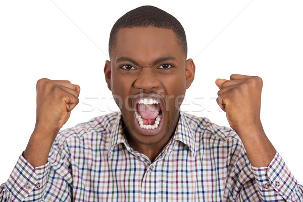 pissed off irritated guy yelling Stock photo © ichiosea