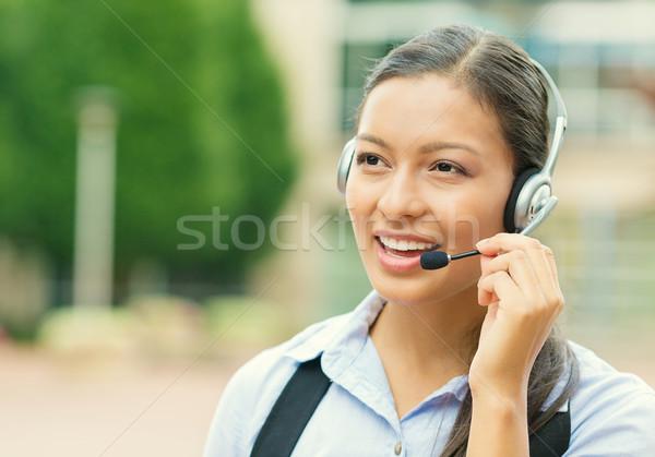 Femme service clients représentant portrait souriant Photo stock © ichiosea