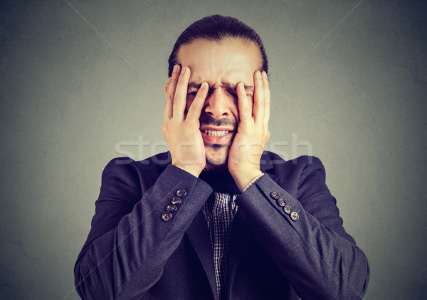 человека давление глядя исчерпанный формальный отчаянный Сток-фото © ichiosea