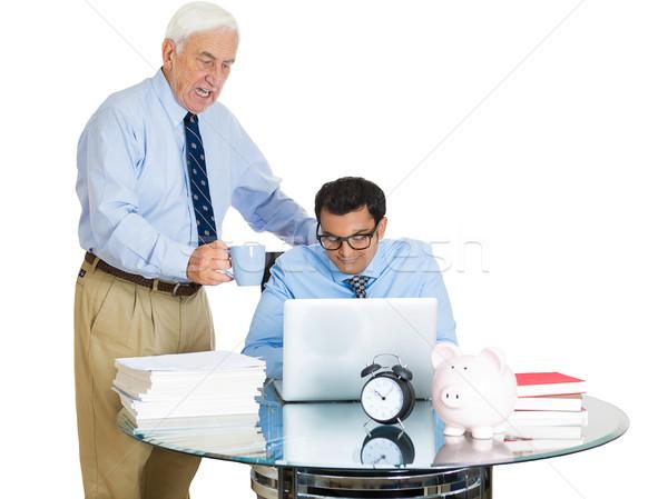 Patron employé portrait vieux âgées Photo stock © ichiosea