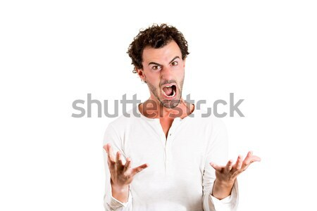 Stock photo: Pissed off man