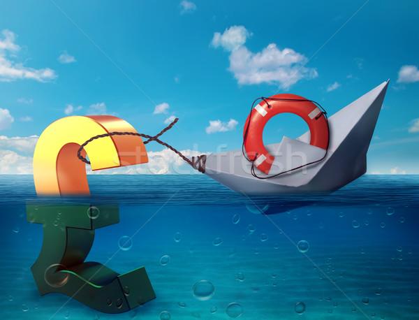 фунт морем символ будущем экономики Сток-фото © ichiosea