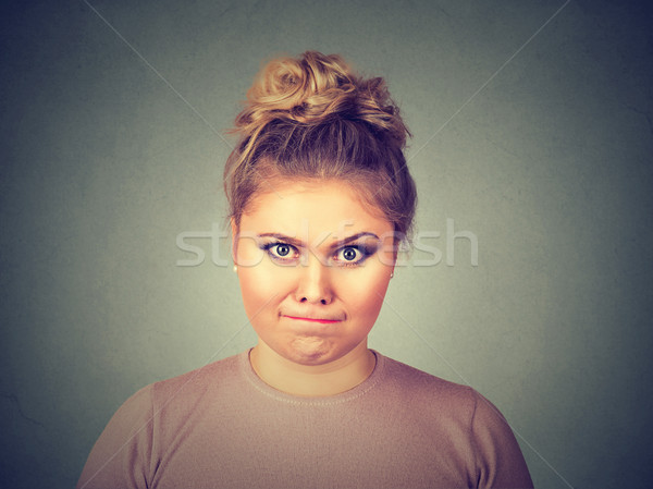 angry young pissed off woman about to have nervous breakdown  Stock photo © ichiosea