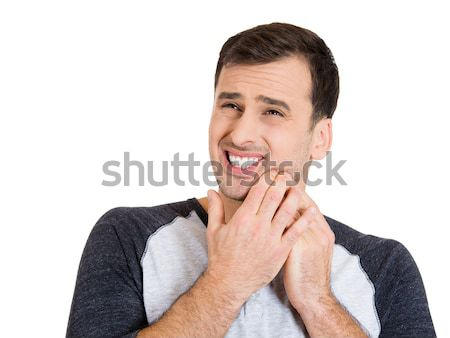 Stock photo: man with tooth ache