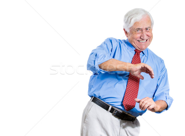 Stock photo: shocked and scared old man
