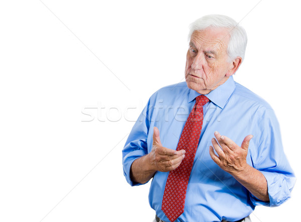 old man trying to remember Stock photo © ichiosea