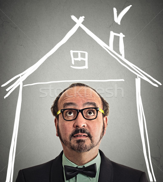 Affaires maison toit au-dessus tête Photo stock © ichiosea
