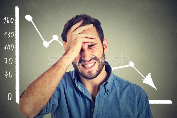 Frustrado joven desesperado financieros mercado Foto stock © ichiosea
