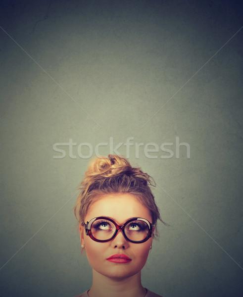 woman looking up Stock photo © ichiosea