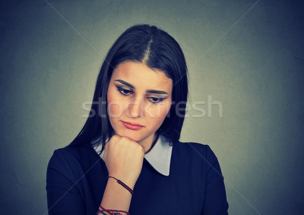 Kobieta smutne patrząc w dół dziewczyna teen ból Zdjęcia stock © ichiosea