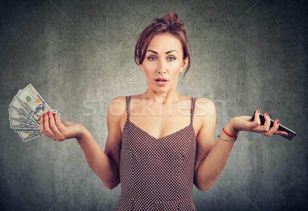Niezadowolony kobieta ceny Dolar Zdjęcia stock © ichiosea