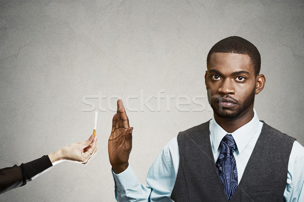 Man says no to smoking Stock photo © ichiosea