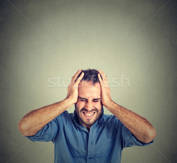 stressed man upset frustrated. Negative human emotions  Stock photo © ichiosea