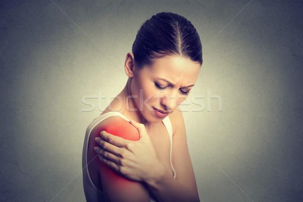 Gewond gezamenlijk vrouw patiënt pijn pijnlijk Stockfoto © ichiosea