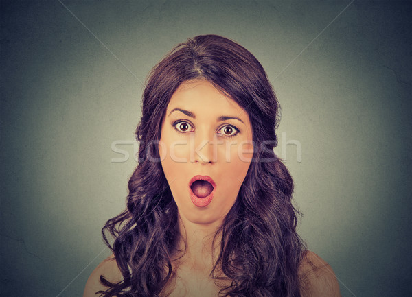 Portrait concerned scared shocked woman  Stock photo © ichiosea