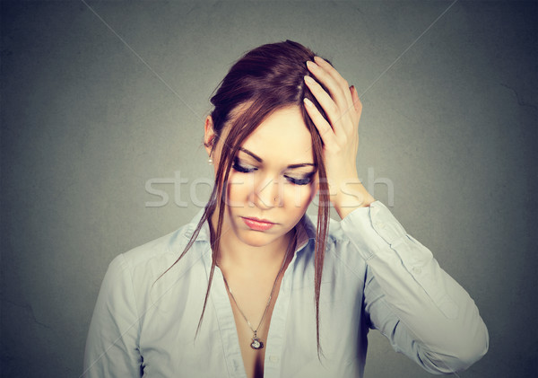 stressed out woman with worried face expression Stock photo © ichiosea