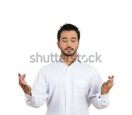 man meditating Stock photo © ichiosea