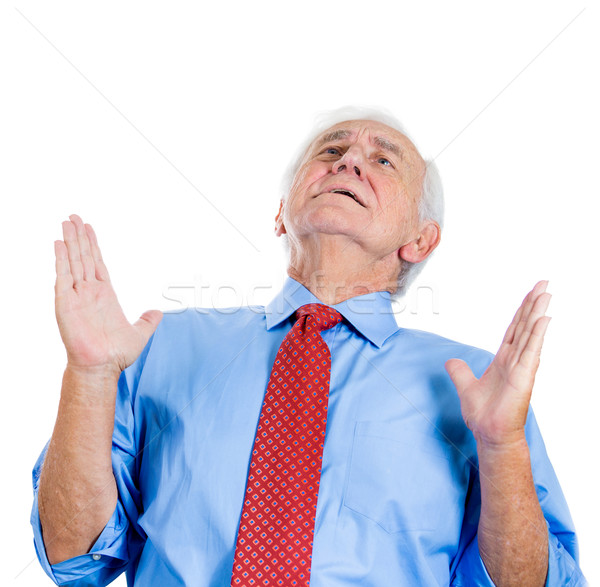 Yaşlı adam portre yaşlı kıdemli Stok fotoğraf © ichiosea