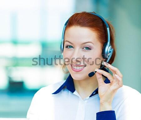 Atendimento ao cliente representante retrato jovem feliz Foto stock © ichiosea