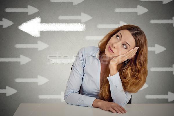 женщину шанс деловая женщина Сток-фото © ichiosea