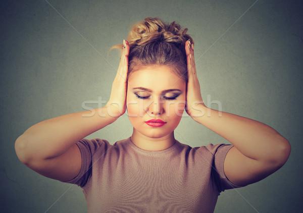 громко звук красивой ушки рук Сток-фото © ichiosea