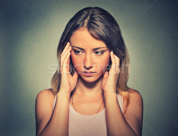 Portrait of a sad woman. Negative emotion facial expression feeling reaction Stock photo © ichiosea