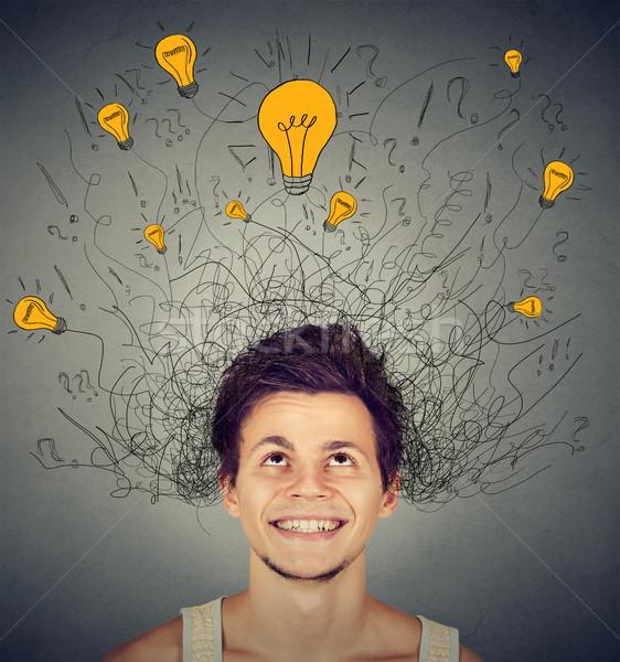 Man hoofd jonge man gezicht licht Stockfoto © ichiosea
