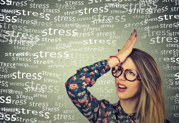 Stressed woman  Stock photo © ichiosea